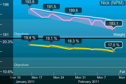 Chart of 4 weeks on the 4 Hour Body