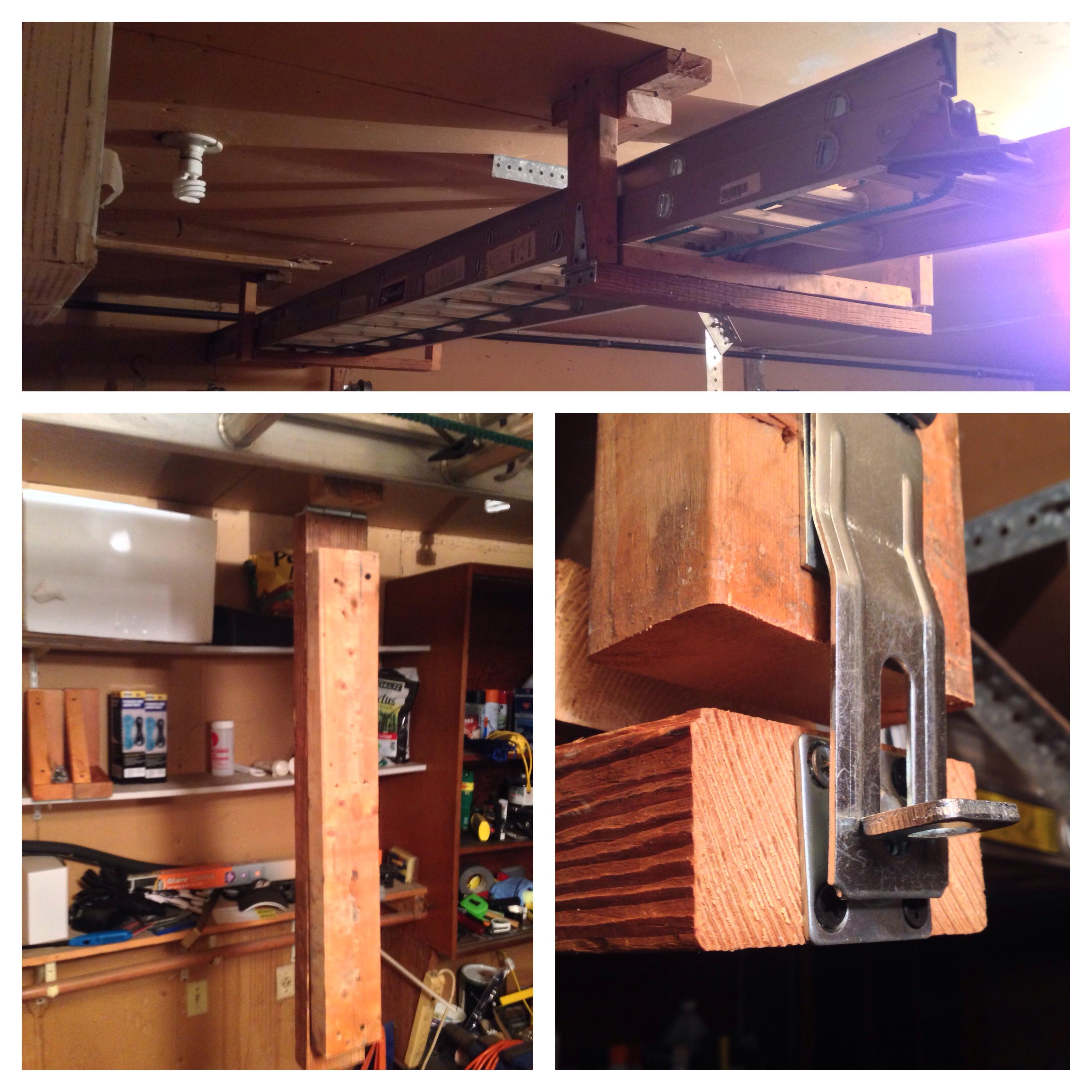 Diy Ladder Storage Nick S Blog