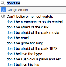 search-dont-be