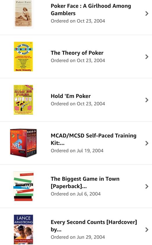 2004 Amazon Orders