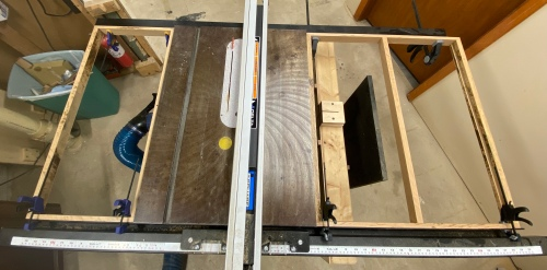 Built sub frames from oak